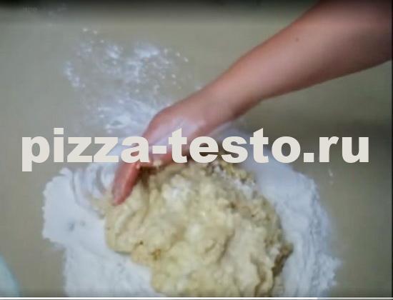 тесто для пиццы на кефире дрожжевое