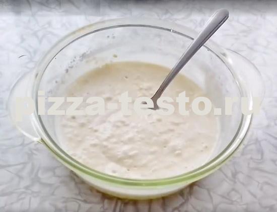 Тесто для пиццы быстрого приготовления на сковороде
