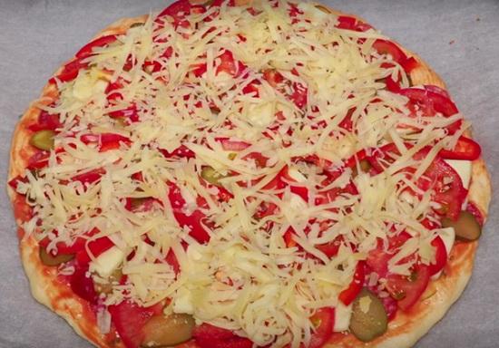 Тесто для пиццы заварное